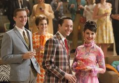 See all of Slate's coverage of Mad Men, Season 5 here. Also see our Magnum Photos gallery on the Mad Men era. Mad Men Fashion, 1960s Fashion, Bold Fashion, Vintage Fashion, Vintage Man, Woman Fashion, Vintage Dress, Colorful Fashion, Spring Fashion