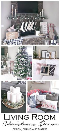 17 lovely Christmas decorations for the living room Christmas Style, Christmas Time Is Here, Christmas Holidays, Christmas Ornaments, White Christmas, Christmas Ideas, Christmas Mantles, Seasonal Decor, Fall Decor