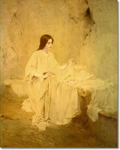William Ladd Taylor  - The Nativity - Religoius Image by William Ladd Taylor Painting
