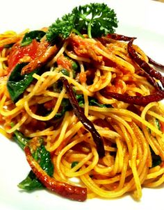 Another of my fav. Thai anchovy pasta from Greyhound cafe, Bangkok