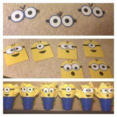 Minions Birthday Candy Buckets :)