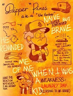 """Dipper Pines"" aka ""the fanboy"" Gravity Falls Book, Gravity Falls Journal, Gravity Falls Comics, Billdip, Gavity Falls, Good Cartoons, Bipper, Dipper Pines, Fan Art"