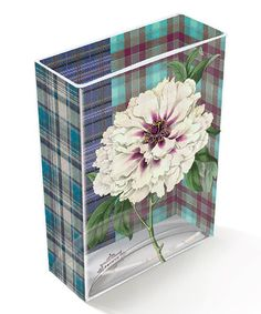 Take a look at this Plaid Peony Lily Vase by Fringe Studio on #zulily today!