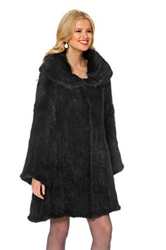 ff776728070 Madison Avenue Mall Real Knitted Mink Coat for Women - Large Cape Collar  (1X)
