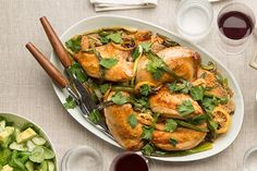 Find the recipe for Roasted Chicken with Lemon, Ramps, and Green Olives and other chicken recipes at Epicurious.com