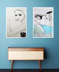 Maddelina als Premium Poster von Leigh Viner | JUNIQE