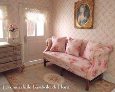 Chippendale sofa (1750 - 1790) - 1/12 dolls house dollhouse miniature
