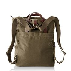 Waxed Canvas Daddy Diaper Bag | Mark and Graham