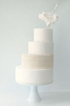If you want all white cake ideas this is a great link. 31 Exquisite All-White Wedding Cakes Amazing Wedding Cakes, Unique Wedding Cakes, Amazing Cakes, Unique Weddings, Indian Weddings, All White Wedding, White Wedding Cakes, Wedding Day, Gold Wedding
