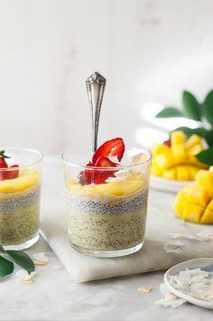 Mango & Coconut Chia Puddings - The Kitchen McCabe