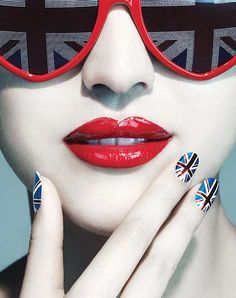 Apparently you can nail that look with Union Jack nail wraps or multi-coloured nail polishes
