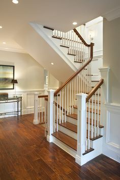 Foyer - traditional - staircase - san francisco - by Arch Studio, Inc.