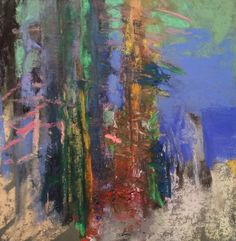 """A Late Winter Forest Floor. 2017. Soft Pastel, Oil, Dry Ground, Soap & Graphite on Hand Prepared Paper. 9.5"""" x 9.25."""" Casey Klahn."""