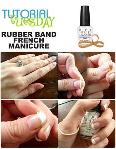 Rubber Band French Manicure Tutorial | Beauty Lovers