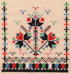 This Pin was discovered by бль Creative Embroidery, Folk Embroidery, Learn Embroidery, Cross Stitch Embroidery, Embroidery Patterns, Cross Stitch Patterns, Palestinian Embroidery, Bargello, Embroidery Techniques