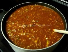 Chili (minus the celery, add mushrooms and corn)