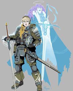 Fantastical Sci-fi Male Knight