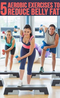 This is aerobic because there's a certain number that you have to do on every step of the exercise that it's telling you to do. It can also help gain muscle because you're using small weights.