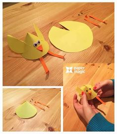 paper crafts and arts for kıds Color Paper Crafts, Paper Crafts For Kids, Easter Crafts, Diy Crafts, School Displays, Diy Gift Box, Work With Animals, Paper Gifts, Art Activities