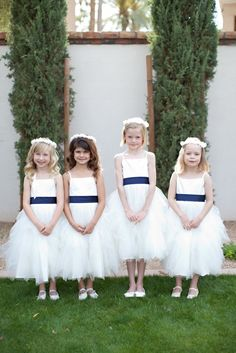 Stunning White Arizona Wedding from Stephanie Fay Photography - flower girls