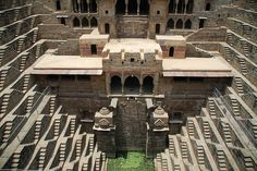Padharo Rajasthan: Amazing Step Well - Abhaneri - Rajasthan.  The water is always accessible.