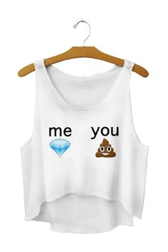 Cute emoji tank top