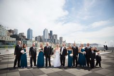 Our prime waterfront location makes for great photo opportunities for the wedding party! #seattle #hotel #venue #photography