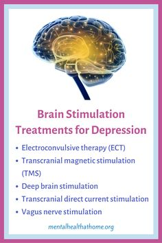 If medications and therapy aren't doing the trick for depression, there are a number of treatment options that involve stimulating electrical activity in the brain. Electroconvulsive therapy (ECT) is probably the best known, although theree's considerable stigma associated with it. Transcranial magnetic stimulation (TMS) is becoming more common, and doesn't involve anaeasthetic like ect does. #major depression #depressiontreatment #electroconvulsivetherapy #tms #brain #mentalillness Transcranial Magnetic Stimulation, Deep Brain Stimulation, Mental Health Therapy, Vagus Nerve, Depression Treatment, Mental Illness, Make It Simple, Medical, Number