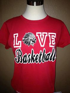 LOVE Basketball Spirit Shirt - perfect for Yutan games $26.00