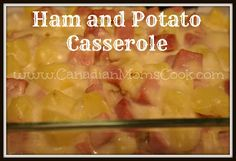 EASY Ham and Potato Casserole #leftovers #recipe #casserole via @Canadian Moms ||www.canadianmomscook.com||