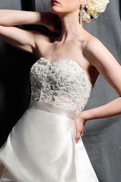 A-line strapless chapel train  glamorous satin wedding dress  Read More:    http://www.weddingspnina.com/index.php?r=a-line-strapless-chapel-train-glamorous-satin-wedding-dress.html
