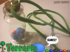 Terraria Slimes in a Vial!  Necklace on Etsy, $6.76