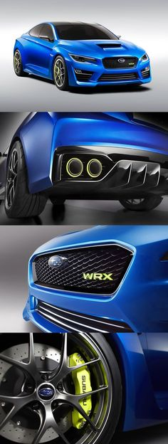 2013 Subaru WRX Concept. Nice DNA change. Back on track Subaru.