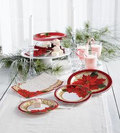 Showcase the exceptional beauty of poinsettia flowers with our Poinsettia Lace Christmas Party Supplies. The collection offers a set of disposable dinnerware especially designed for celebrating holiday events and Christmas parties. The design is extremely classy while the quality is exceptionally high. Our disposable party supplies are sold in generous bulk quantities at competitive wholesale pricing, a fabulous choice for event planners and party hosts.