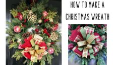How to Make a Traditional Christmas Wreath Christmas Tree Bows, Christmas Greenery, Christmas Wreaths To Make, Christmas Gift Tags, Christmas Tree Toppers, All Things Christmas, Christmas Diy, Winter Wreaths, Holiday Wreaths