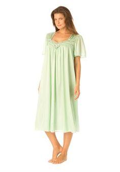 bcb521a0d8 Tricot full-sweep waltz gown Plus Size Sleepwear