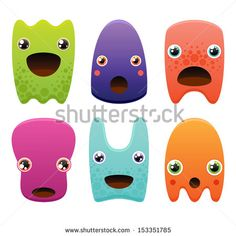 Stock Images similar to ID 216890770 - cute simple characters and...
