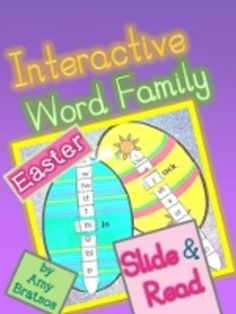 Interactive Easter Word Family Literacy Center