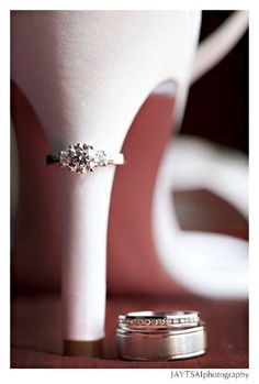 Love this for wedding rings.