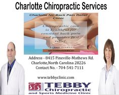 Visit an experienced Charlotte NC Chiropractor for chiropractic care to get fast relief from pain resulting due to sports injuries, auto injury or auto accident or for just family chiropractic or health and wellness care.