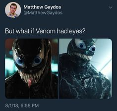 All the Marvel and Spiderman fans are eagerly waiting for the release of the Venom movie. Venom's trailer already making fans crazy and, not to forget Funny Venom Memes. We should not expect Venom to fight Thanos Avengers Memes, Marvel Jokes, Marvel Funny, Funny Comics, Marvel Avengers, Dc Comics, Dc Memes, Funny Memes, Funniest Memes