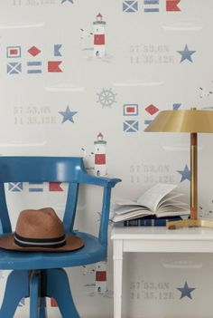 Papeles pintados habitación juvenil