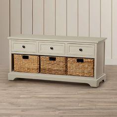 Beachcrest Home McKinley 3 Drawer Storage Entryway Bench & Reviews | Wayfair