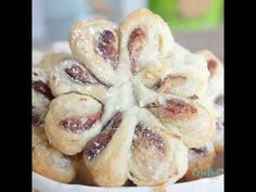 Puff Pastry Flowers With Nutella And Peanut Butter
