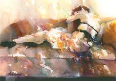Resting  Watercolor, Original Sold   Winner of the People's Choice Award | 2011 Aqueous Open Int'l, Artist:  Nancy Deckant  .... Love this...have a print of it in my living room