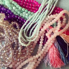 So many pretty colors! Looking forward to spring time ❤ #juniiq #jewelry #beads #spring #summer