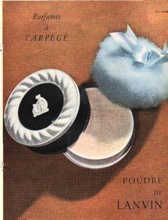 Publicité  Poudre DE Lanvin Parfumée à l'Arpège