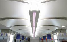 Lotnisko, Nicea, Armstrong, sufity podwieszane, sufit akustyczny, acoustic, ceiling, Canopy