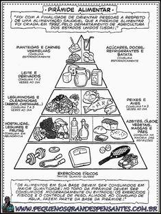 Atividades sobre alimentação saudável 4 Kids, Lily, Science, Activities, Education, Words, School, Map Activities, Physical Education Activities