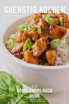 Honey Garlic Chicken – This is how fast Asian cuisine works – Famous Last Words Tuscan Garlic Chicken, Creamy Garlic Chicken, Garlic Chicken Recipes, Honey Recipes, Pork Recipes, Asian Recipes, Healthy Recipes, Healthy Foods, Asian Chicken Lettuce Wraps